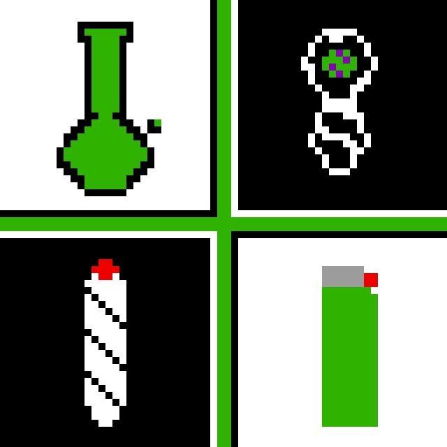 stoned pixel art
